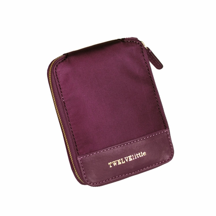 Pouch Tote Bag in Plum