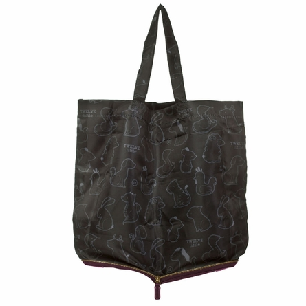 Pouch Tote in Plum
