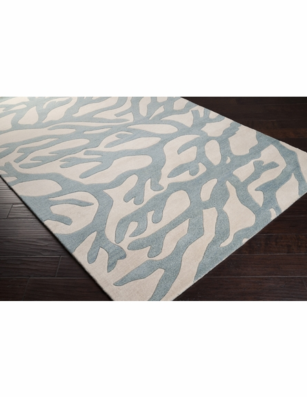 Powder Blue Coral Escape Rug