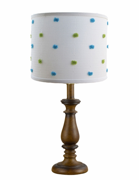 Powder Puff Blue Lamp Shade
