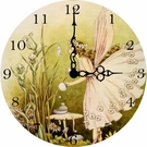 Powder Puff Fairy Wall Clock