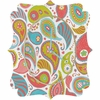 Power Paisley Quatrefoil Wall Clock