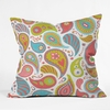 Power Paisley Throw Pillow