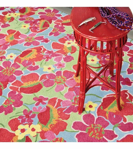 Power Poppies Wool Micro-Hooked Rug