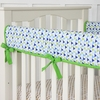 Preppy Navy Boy Crib Rail Cover
