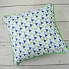 Preppy Navy Boy Square Throw Pillow