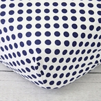 Preppy Navy Dot Crib Sheet
