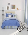 Preppy Stripe Twin Bed Skirt - Blue
