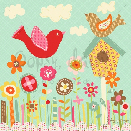 Pretty Birds Canvas Wall Art
