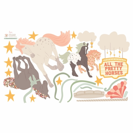 Pretty Horses Fabric Wall Decals