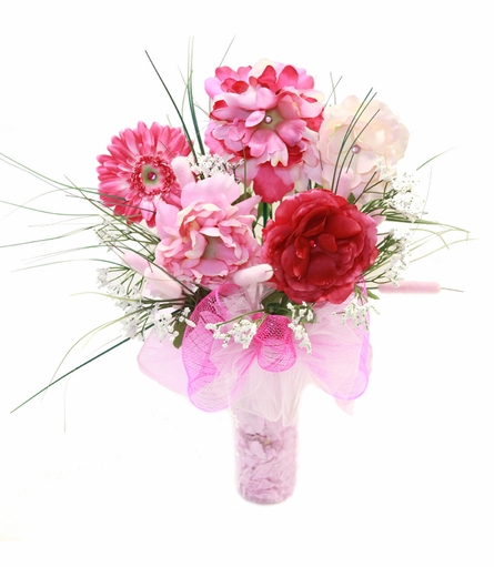 Pretty in Pink Budding Beauty Flower Hat Bouquet