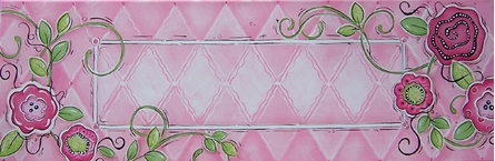 Pretty in Pink Name Plate Personalized Canvas Reproduction