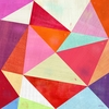 Pretty Pink Prisms Canvas Wall Art