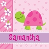 Pretty Pink Turtle Canvas Wall Art
