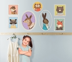 Pretty Portrait Animals Peel & Place Wall Stickers