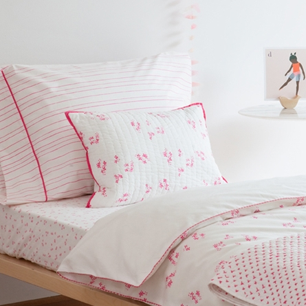 Pretty with Pink Quilted Pillow Sham