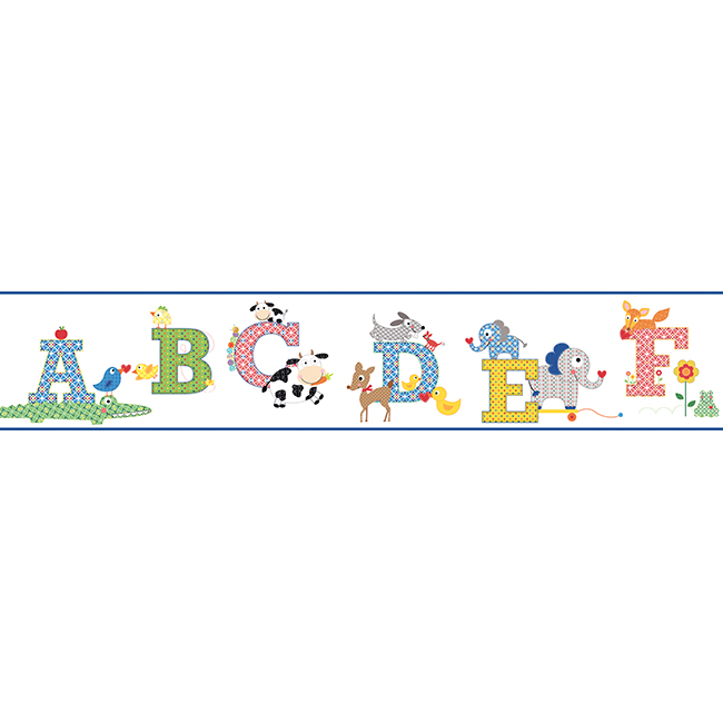 Comkids Room Borders : ... Style > Traditional > Traditional Kids Decor > Primary Alphabet ...