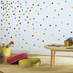 Primary Colors Confetti Dots Wall Decals