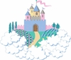 Princess Castle Mini Paint by Number Wall Mural