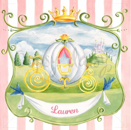 Princess Coach Mural Wall Decal