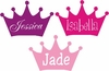 Princess Crown with Name Insert Wall Decal