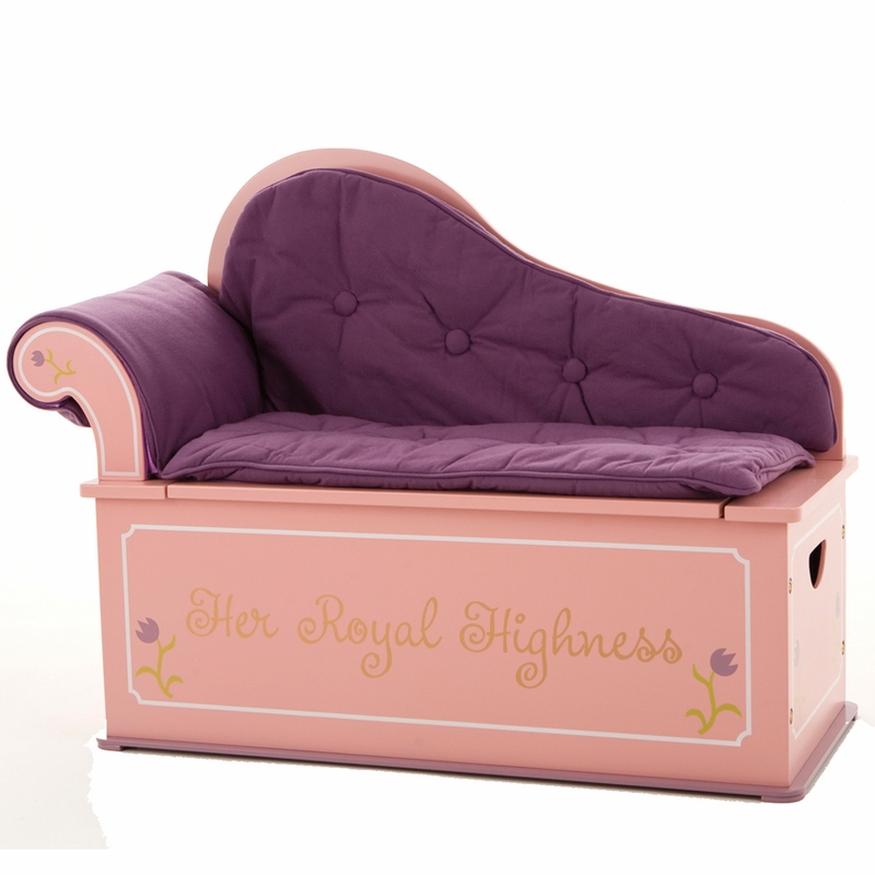 Princess Fainting Bench Seat with Storage by Levels of Discovery
