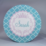 Princess Frame Personalized 3-Piece Dinnerware Set