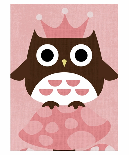 Princess Owl Canvas Reproduction