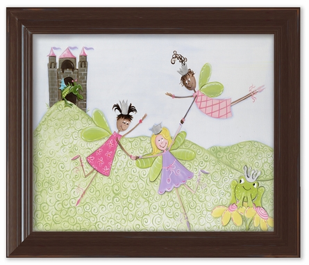 Princess Picnic Framed Canvas Reproduction