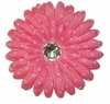 Princess Pink Dotted Daisy Fabric Flower