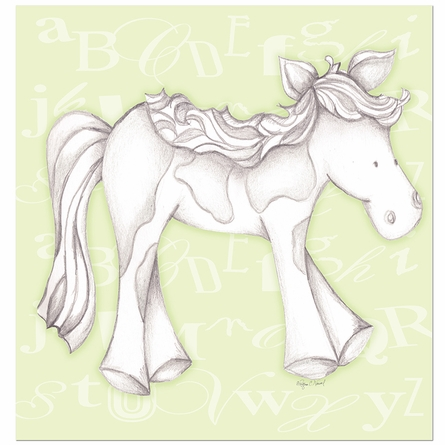Princess Pony in Green Canvas Reproduction