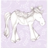 Princess Pony in Lavender Canvas Reproduction