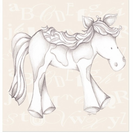 Princess Pony in Tan Canvas Reproduction