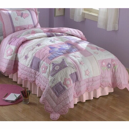 Princess Quilt with Pillow Sham
