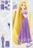 Princess Rapunzel Glitter Wall Decals