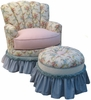Princess Rocker Glider Chair - Blossoms & Bows