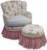 Princess Rocker Glider Chair - English Bouquet