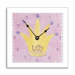 Princess Wall Clock with Narrow Frame