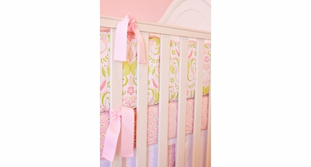 Pucker Up in Pink Crib Sheet