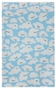 Puffy Clouds Rug in Azure