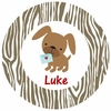 Puppy Love Personalized Melamine  Plate