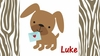Puppy Love Personalized Placemat