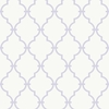 Purple and White Modern Trellis Wallpaper