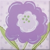 Purple Bloom Imagination Square Hand Painted Canvas Art