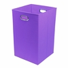 Purple Canvas Laundry Bin