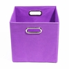 Purple Canvas Storage Bin