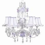 Purple Chandeliers