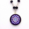 Purple Chevron Monogram Pendant