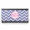 Purple Chevron Monogram Wallet