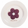Purple Flower on White Personalized Ceramic Dish Collection